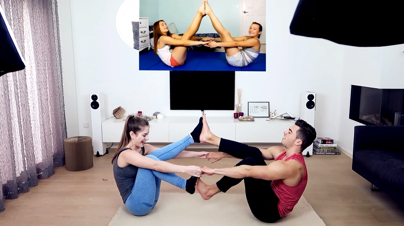 Couple yoga is one of the best ways to create intimate relationship by establishing and maintaining body contacts with your lover. Let's take a look at some fun and interesting couple yoga postures before further explain the concepts.